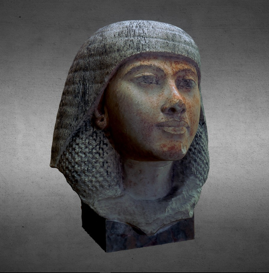 Egyptian bust of a woman preview image 1