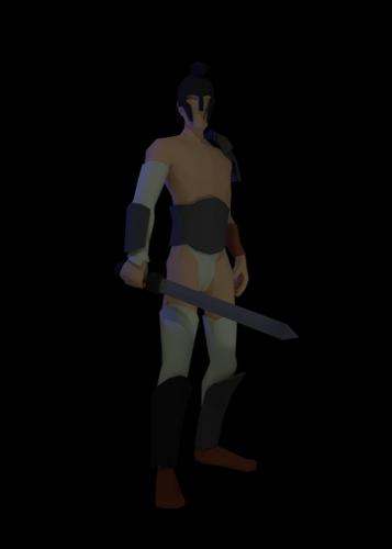 Low Poly Gladiator Rigged preview image