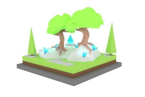 Isometric Nature Scene preview image