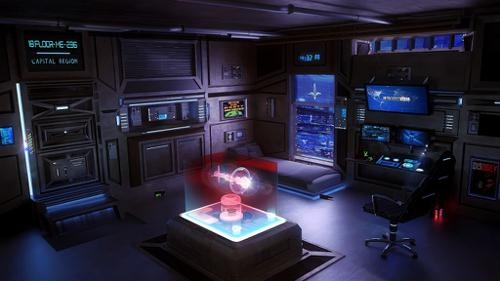 Sci-Fi Apartment, Gamer/Hacker Room  preview image