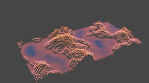 Procedural Holographic Landscape (Volumetric emission) preview image