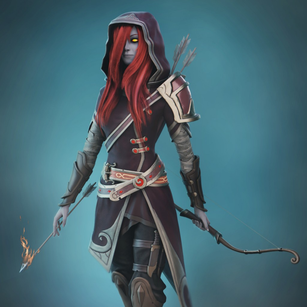 Drow Archer 2.8 EEVEE preview image 1