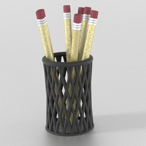 Pencil Cup and Pencils preview image