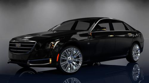 Cadillac CT6 3D Model preview image