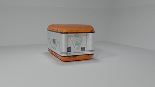 Sci Fi weapon/ammo crate preview image