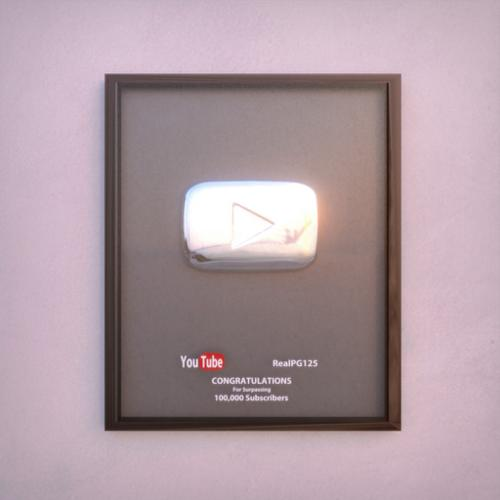 Silver YouTube Play Button preview image