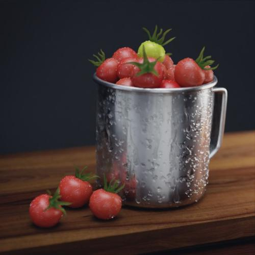 Cherry Tomatoes in Mug preview image