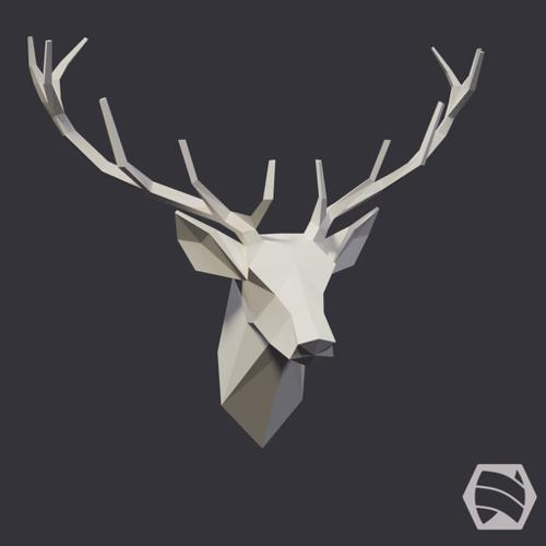 Stag Head - Low-Poly preview image