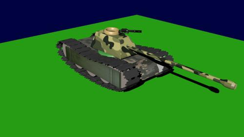 Low-Poly Medium Tracked Tank ( Textured ) preview image