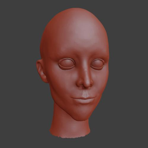 female head sculpt preview image