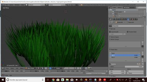 Simple grass textured and animated for games preview image
