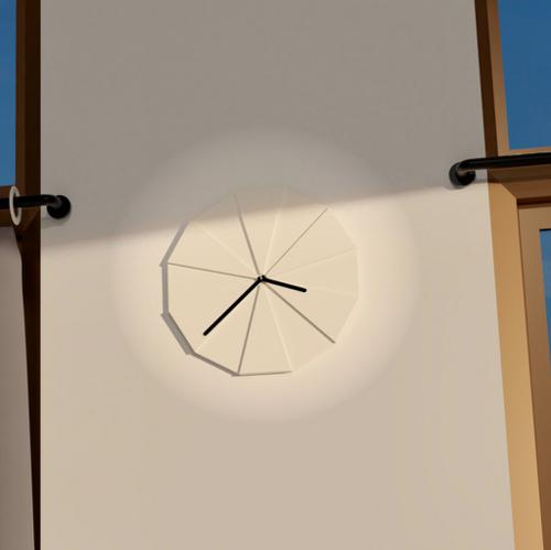 Living & Co Clock Oslo Cement White preview image