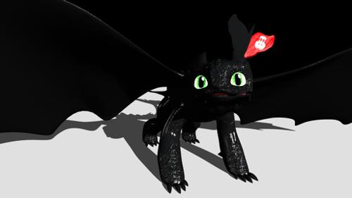 Toothless dragon rigged (how to traing your dragon) preview image