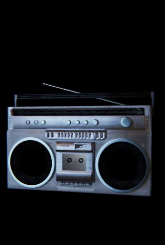 old cassette radio/ boom box preview image