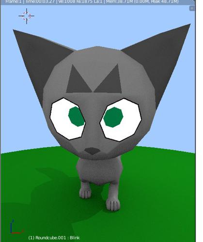 Stripe the Cat Rigged preview image