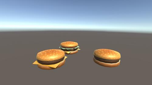 Hamburgers LowPoly preview image