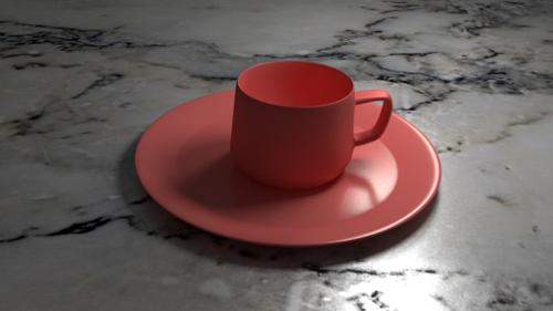 Modern Coffee Mug and Plate preview image