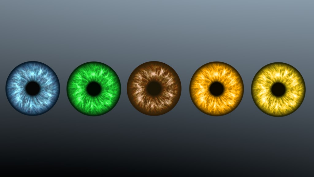 Five Color Iris Textures for Eyes preview image 1