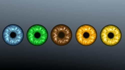 Five Color Iris Textures for Eyes preview image