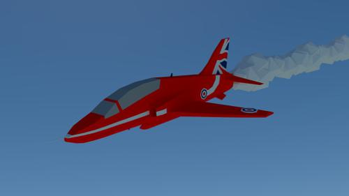 Red arrow plane preview image