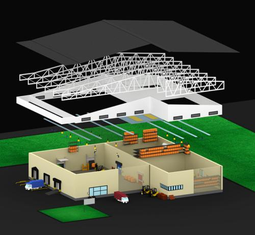 Low-Poly Isometric Warehouse Scene preview image