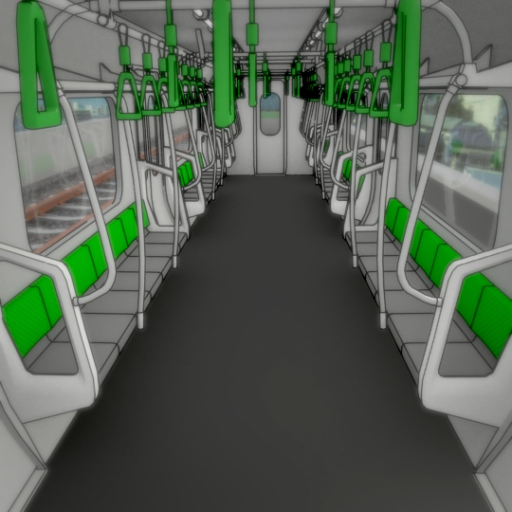 Japanese Subway Train preview image 3