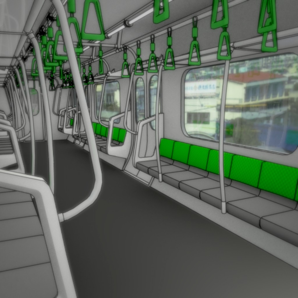 Japanese Subway Train preview image 2