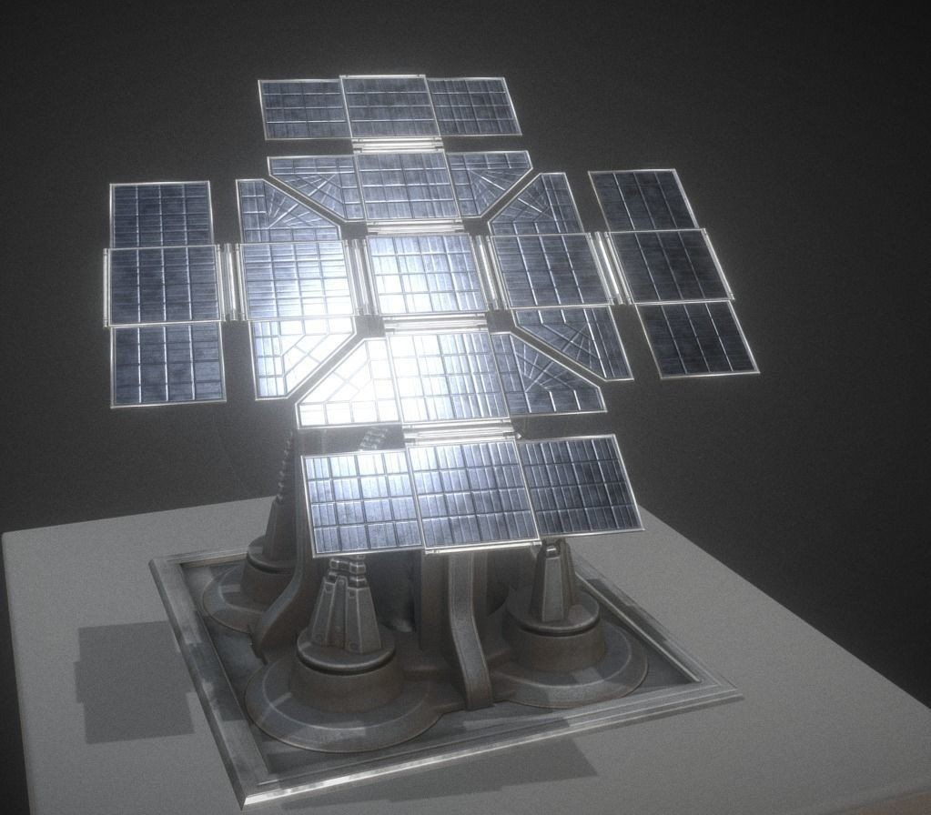Futuristic Solar Power Tower preview image 3