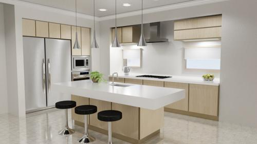 Cycles Modern Kitchen Scene preview image