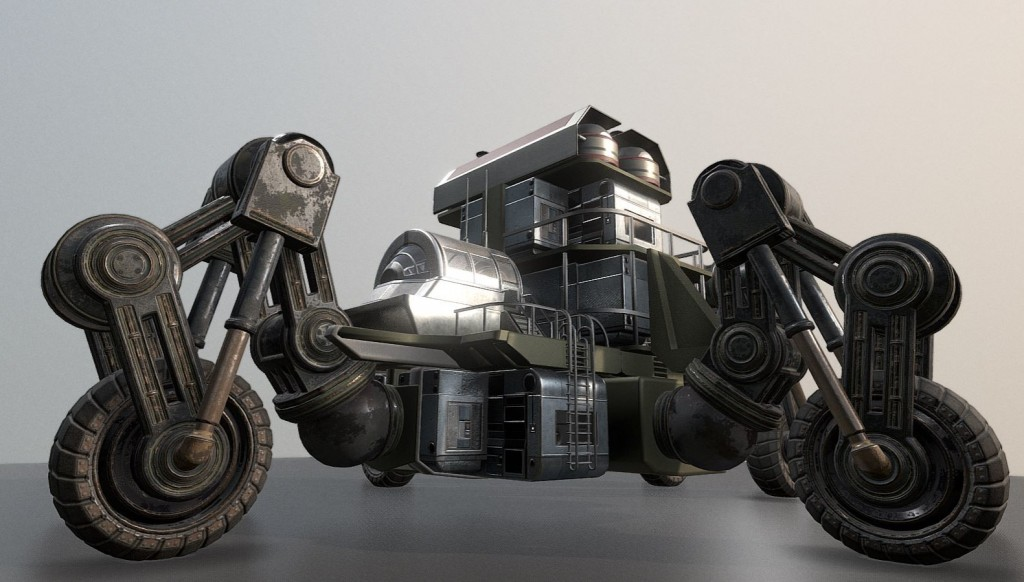 Futuristic Five-Wheeled Building - Five Wheeler  preview image 4