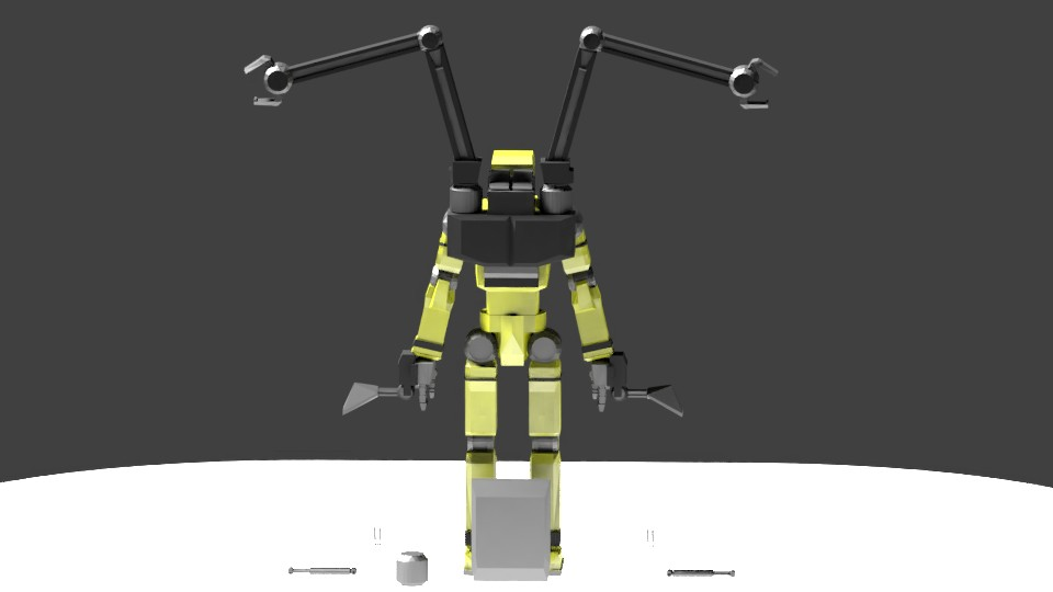 Low Poly Construction Mech -Adjutor preview image 2
