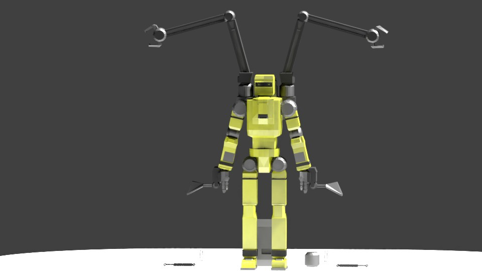 Low Poly Construction Mech -Adjutor preview image 4