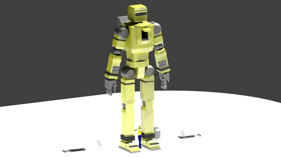 Low Poly Construction Mech -Adjutor preview image 5