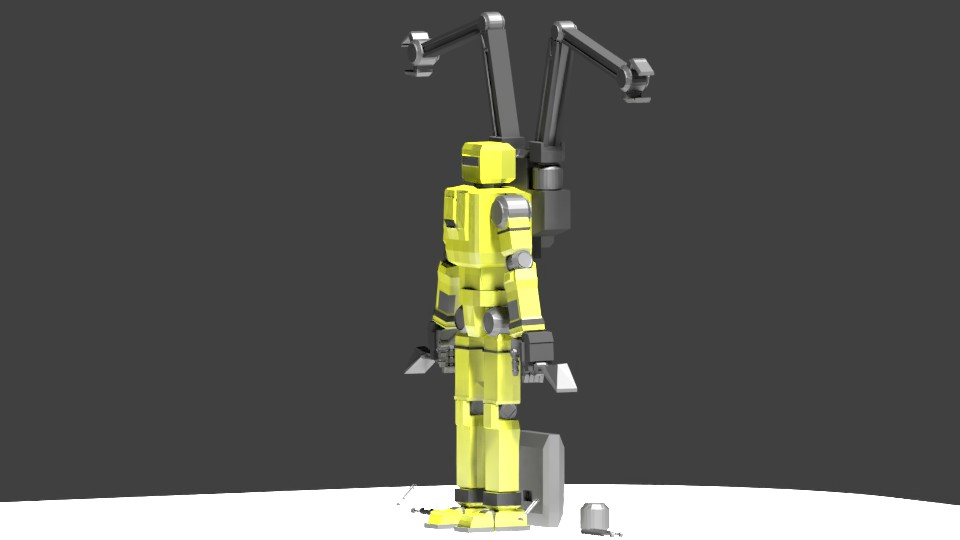 Low Poly Construction Mech -Adjutor preview image 8