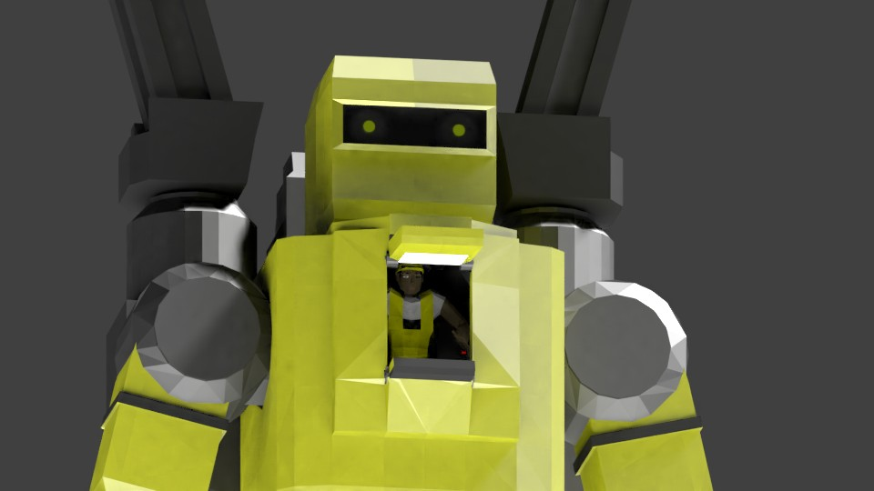 Low Poly Construction Mech -Adjutor preview image 3