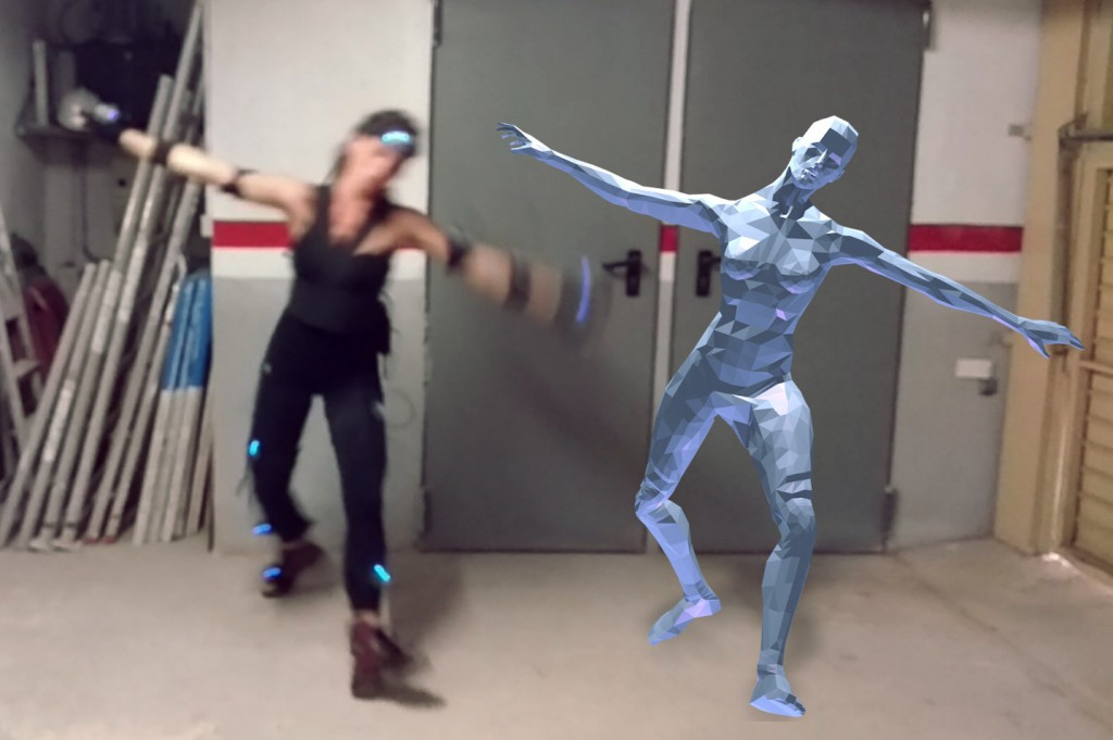 Female model for motion capture preview image 1