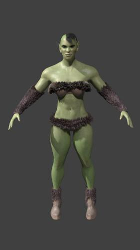 Female Orc Warrior preview image