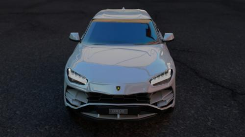 lamborghini urus 2019 free 3d model ( non rigged ) preview image