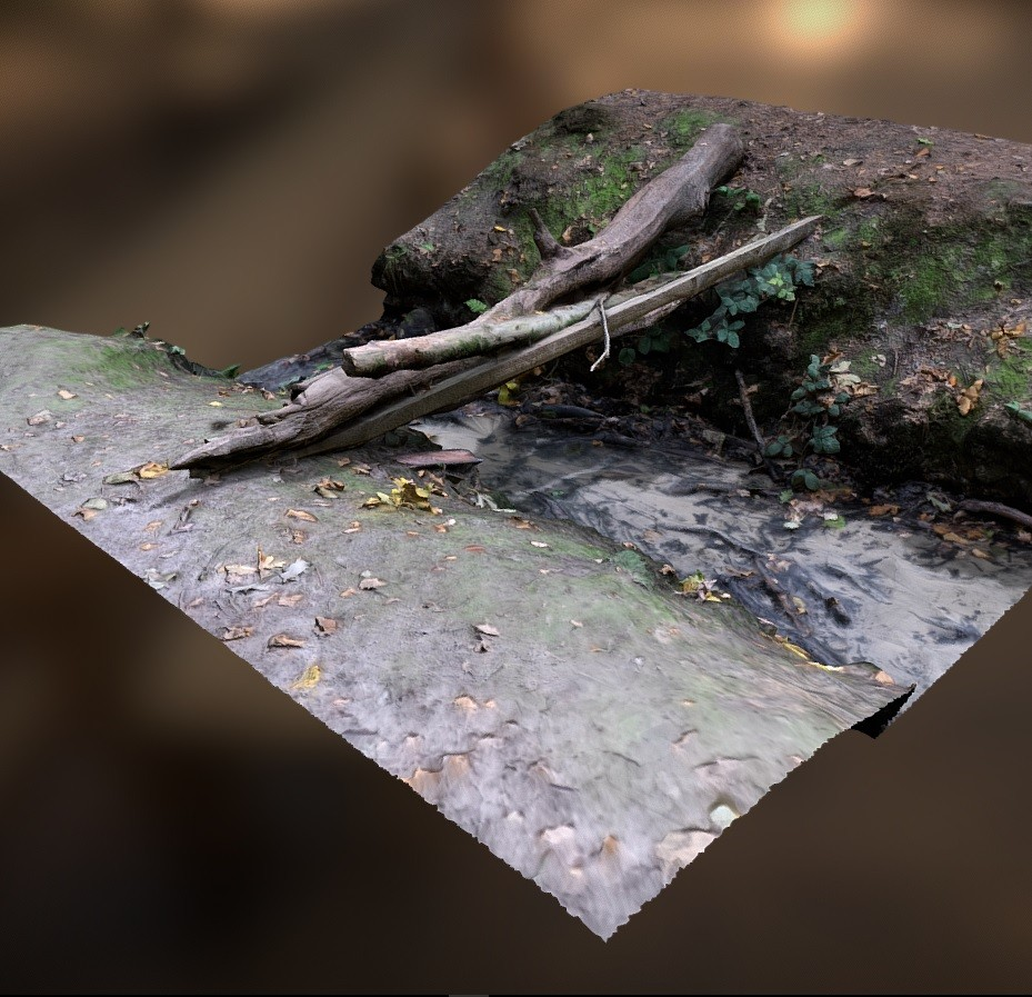 Wooden Bridge above a stream preview image 1