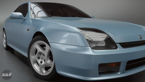 Honda Prelude V 3D model preview image