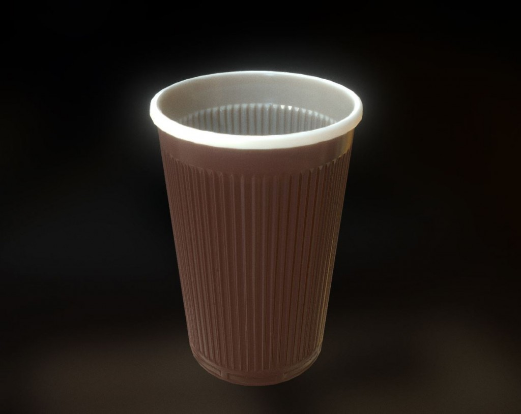 Low-Poly Plastic Cup preview image 1