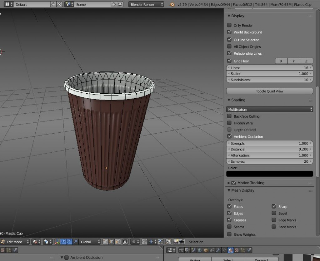 Low-Poly Plastic Cup preview image 2