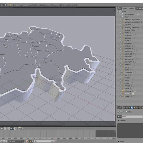 Switzerland in 3d (cantons) preview image