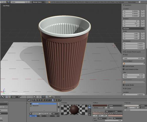 Plastic Cup (High-Poly Version) preview image