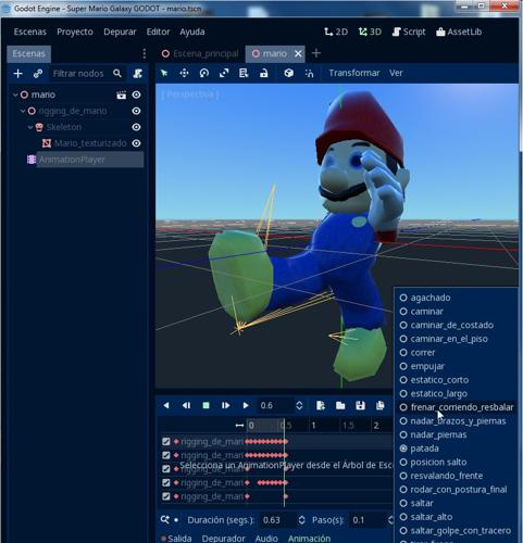 Mario Rigging compatible with Godot Game Engine preview image