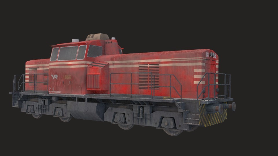 Industrial train (Game ready) preview image 1