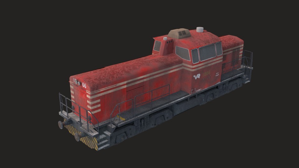 Industrial train (Game ready) preview image 2