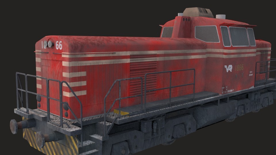 Industrial train (Game ready) preview image 3