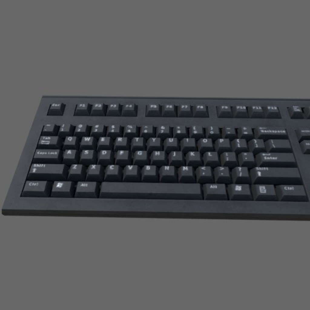 Low poly Keyboard (Game ready) preview image 1