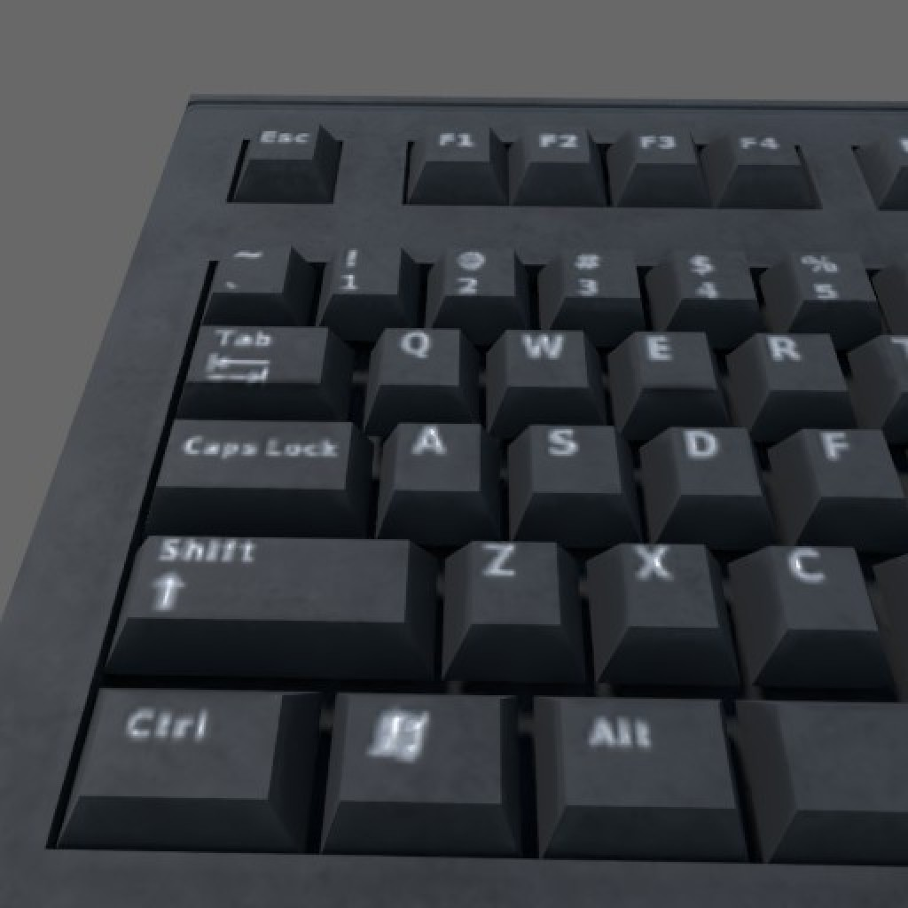 Low poly Keyboard (Game ready) preview image 2